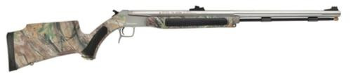"""CVA Accura V2 Muzzleloader .50 Caliber 27"""" Fluted Stainless Steel Barrel Ambidextrous Composite Stock Realtree APG Camouflage Finish Fiber Optic Sights"""