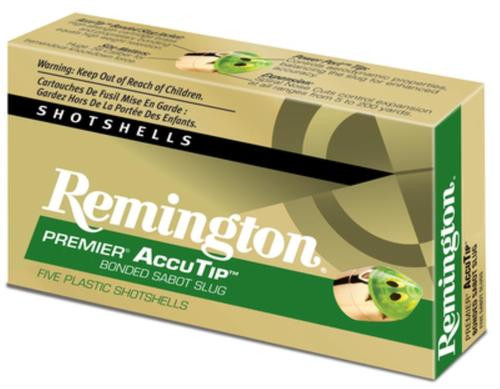 Remington Premier Accu-Tip Bonded Sabot Slug 20 Ga 260gr, 2.75'''''''''''''''''''''''''''''''', 1850 FPS, Power Port Tip, 5rd/Box