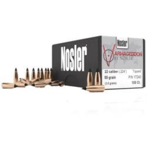 Nosler Varmageddon .224 62gr, 22 Caliber FBHP 250 Per Box
