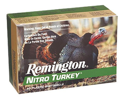 Remington Nitro Turkey 12 Gauge, 3 Inch, 1210 FPS, 1.875 Ounce, 4 Shot, 10rd/Box