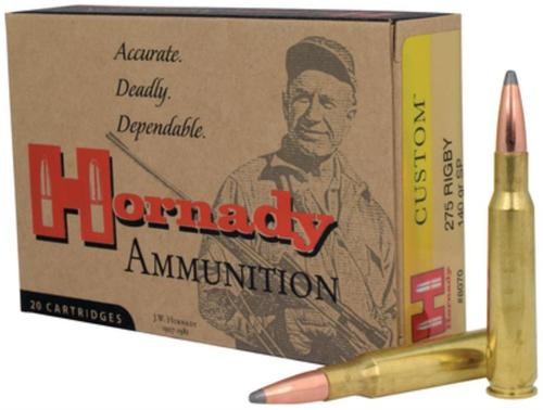 Hornady Custom .275 Rigby 140gr, Spire Point 20rd Box