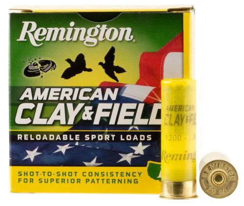 "Remington American Clay & Field Sport Loads 20 Ga, 2.75"", 7/8oz, 9 Shot, 25rd/Box"