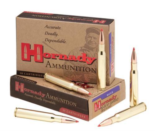 Hornady .30-06 168 Gr, A-MAX, Match, M1 Garand, 20rd Box