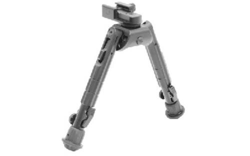 """Leapers, Inc. - UTG Recon 360 Bipod, Fits AR Rifles, 6.7"""" - 9.1"""", Adjustable 360-degree Panning with Multi-axial Tilting Base, Black"""