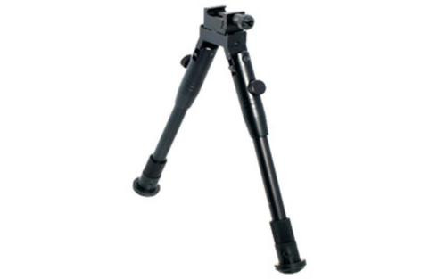"Leapers, Inc. - UTG Universal Shooter's Bipod, Fits Picatinny Rail or Swivel Stud, 8.7"" - 10.6"", Tactical/Sniper Profile with Adjustable Height, Black"