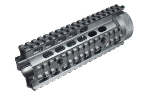 Leapers, Inc. - UTG Model 4/15 Quad Rail, Fits AR Rifles, Carbine Length, Free Float, Black