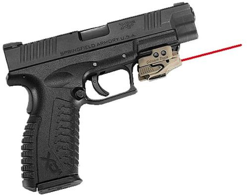 "Crimson Trace Rail Master Universal Rail Mount, Red Laser,Tan, Most Weapons With M1913 Picatinny Rail, 1-1/16"" Between Recoil lug and Trigger Guard"