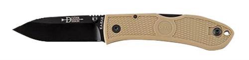 Ka-Bar Dozier Folding Hunter AUS-8 Drop Point Blade Coyote Brown Zytel