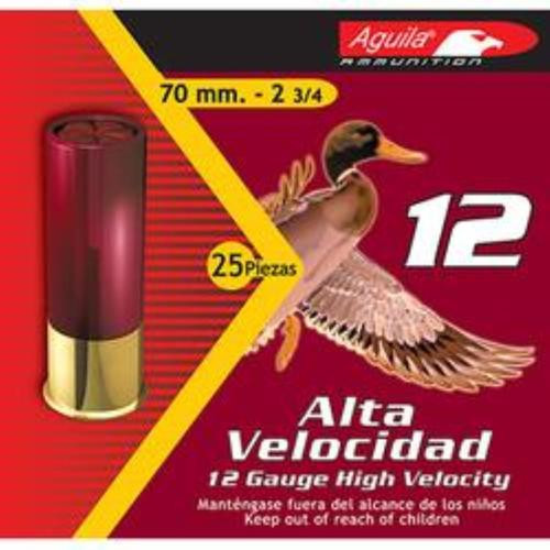 "Aguila High Velocity 12 Ga, #7.5 Lead Shot, 2-3/4"", 1-1/4 oz, 25rd/Box"