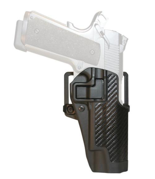 Blackhawk CQC Carbon Fiber Serpa Active Retention Holster Textured Black Right Hand For Ruger P85/89