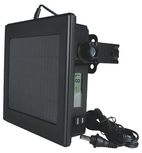 Moultrie Trail Camera Solar Power Panel 12 Volt, Black