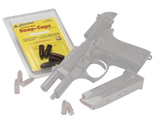 A-Zoom Snap Caps Handgun Rounds 9mm Aluminum 5rd/Box
