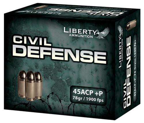 Liberty Ammo Civil Defense 78gr, LF Fragmenting HP, 20rd Box