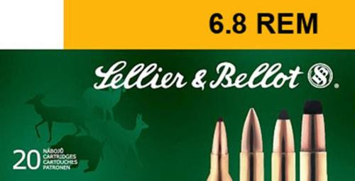 Sellier and Bellot 6.8mm Rem.Spc 110 PTS 20Rd/Box