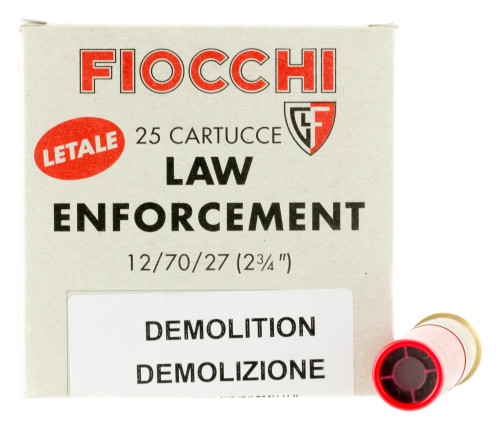 "Fiocchi Lead and Wax Buckshot/Slugs 12 Ga, 2.75"", 1oz Slug, 25rd/Box"
