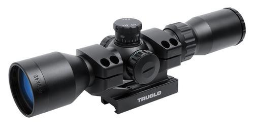 Truglo Tactical AR 3-9x 42mm Obj 10-4 ft @ 100 yds FOV 1 Tube Black