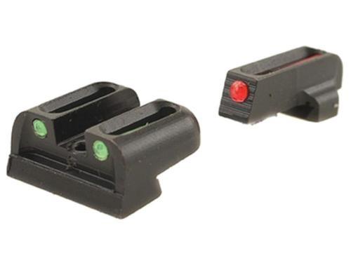 Truglo, Brite Site Fiber Optic Red Front 3 Dot Sight, Green Rear Sight, Fits SpringfieldngfieldXD