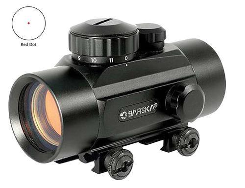 Barska Red Dot 1x 30mm Obj Unltd Eye Relief 5 MOA Black