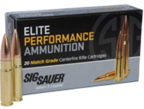 Sig Ammo 300Blk 125Gr Elite Match Grade OTM 20rd Box