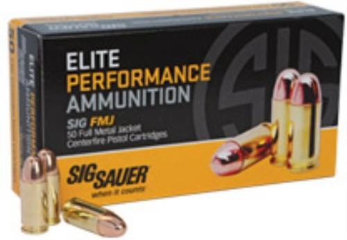 Sig Ammo 357Mag 125Gr Elite Ball FMJ 50rd Box