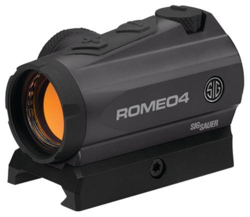 Sig ROMEO4 Graphite Compact Red Dot Sight 1x20mm 2 MOA Dot Graphite Finish