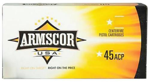 Armscor 45 ACP 230gr, Jacketed Hollow Point,20rd Box
