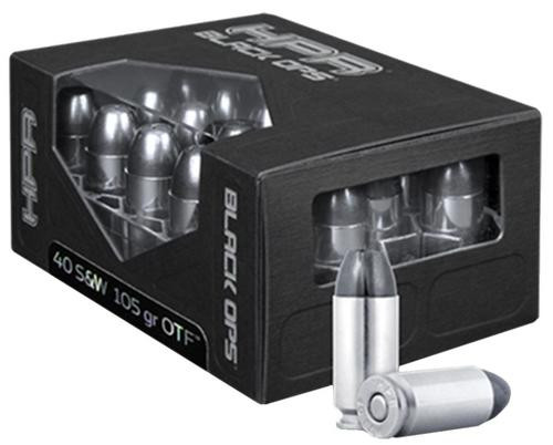 HPR Ammunition BlackOps 40S&W Open Tip Frangible 105 gr, 20rd/Box