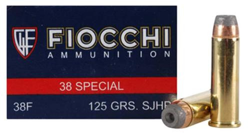 Fiocchi .38 Special, 125 Gr, Complete Metal Jacket, 50rd Box
