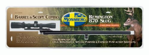 "Mossberg Remington 870 Extra Barrel 12 Ga, 24"" Matte Blue Finish, Fully Rifled With Mounted Scope"