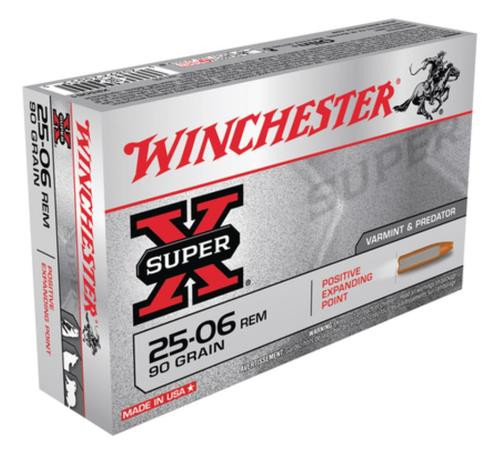 Winchester Super X 25-06 Rem Positive Expanding Point 90gr, 20Box/10Case