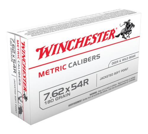 Winchester Metric 7.62x54mm Russian Soft Point 180gr, 20Box/20Case
