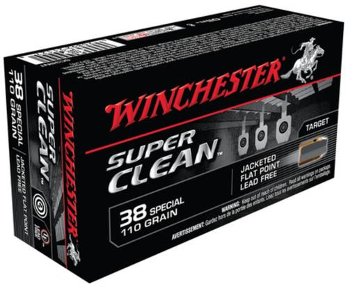Winchester Super-X Super Clean NT Lead Free .38 Special 110 Grain Jacketed Flat Point
