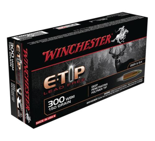Winchester E-Tip Lead-Free .300 Winchester Short Magnum 150gr, E-Tip, Lead Free, 20rd Box