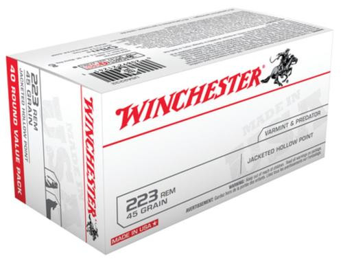 Winchester USA 223 Remington/5.56 NATO JHP 45gr, 40Box