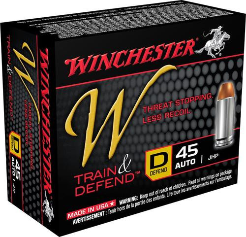 Winchester W Train & Defend 45 ACP Defend 230 gr, JHP 20rd Box