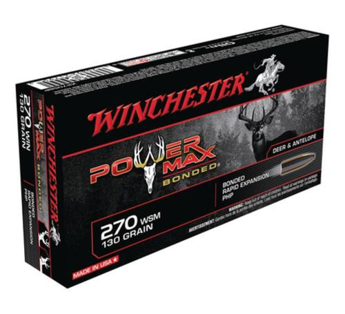 Winchester Power-Max .270 Winchester 130gr, Protected Hollow Point Bonded 20rd Box