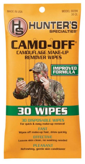 Hunter's Specialties Camo-Off Make-Up Remover Pads 30 Wipes