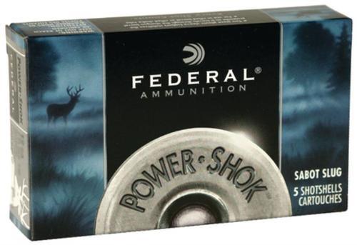 """Federal Power-Shok Sabot Slugs 20 Ga, 2.75"""", 1450 FPS, .875oz, Lead Slug 5 Per Box"""
