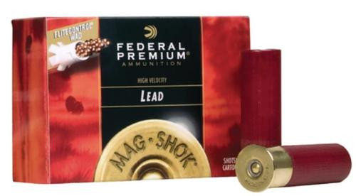 Federal Mag-Shok Turkey Load High Velocity 10 Gauge 3.5 Inch 1300 FPS 2 Ounce 4 Shot 10 Per Box