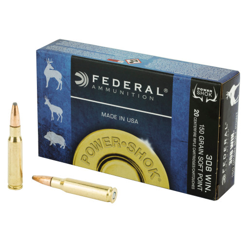 Federal Power-Shok 308 Winchester (7.62 NATO) Soft Point 150gr, 20Box/10Cs