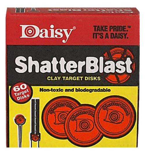 """Daisy 60 Count 2"""" ShatterBlast Clay Target 60 pack"""