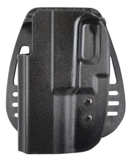 Uncle Mike's Kydex Paddle Holster 21, Thumb Strap, Glock 17/19/22/23, Black Kydex, Left Hand