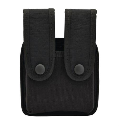 """Uncle Mike's Single Line Mag Pouch, Double Single Stack, Belts up to 2.25"""" Wide, Black Cordura"""