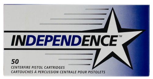 Independence 9mm, FMJ, 124 Gr, 50rd/box