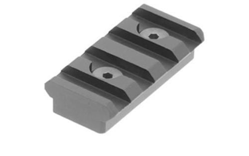 """Leapers, Inc. - UTG Keymod Picatinny Rail Section, 1.57"""", 4 Slots, Black"""