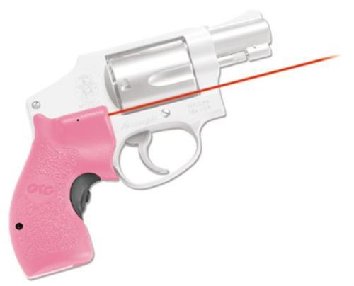 "Crimson Trace Lasergrips SW J Frame 5mW .5""@50ft Pink Poly"