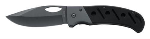 "Ka-Bar Gila Folder 3.88"" 420 Stainless Clip Point Plain Black G10"