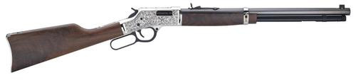 "Henry Big Boy Silver Deluxe 357 Mag/38 Special, 20"" Barrel, American Walnut, Blued/Silver, 10rd"