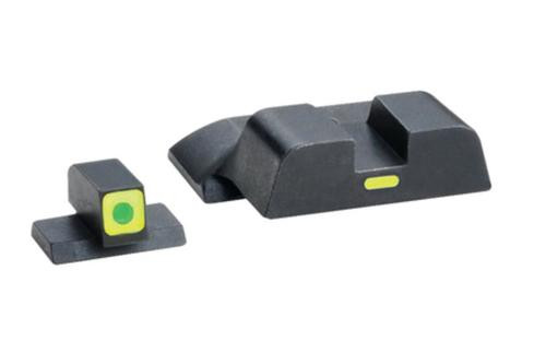 AmeriGlo CAP Night Sights S&W M&P Shield, Green, Lime Outline and Bar