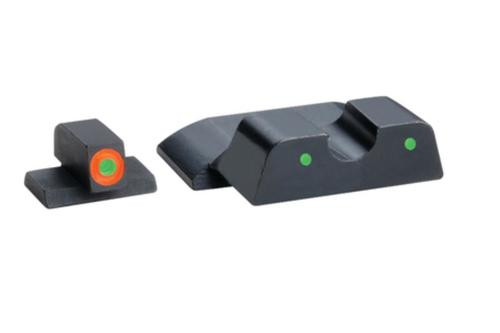 AmeriGlo Spartan Tactical Tritium Night Sight Set For S&W Shield Orange/Green